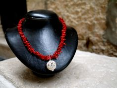 How about some coral with your filigree bead? Handmade filigree bead by us :)  sebasilver.com