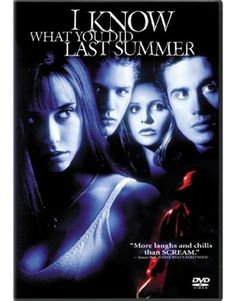 I Know What You Did Last Summer is a film directed by Jim Gillespie with Jennifer Love Hewitt, Sarah Michelle Gellar, Ryan Phillippe, Freddie Prinze Jr. Year: Original title: I Know What You Did Last Summer. 90s Movies, Hindi Movies, Scary Movies, Great Movies, Movies To Watch, Slasher Movies, Childhood Movies, Movies Free, Freddie Prinze