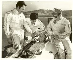 Mario, Lloyd Ruby, Al Unser and NASCAR's Cale Yarbough