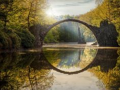 When reflected in the still waters below it, this 19th-century bridge creates a perfect stone circle.