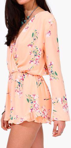 Peachy floral romper