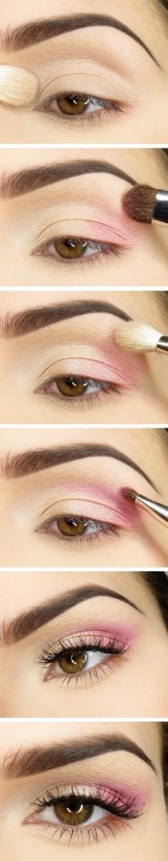 I bet if you did this with black instead of pink, it'd look like a smokey eye. Gotta try it! ((: