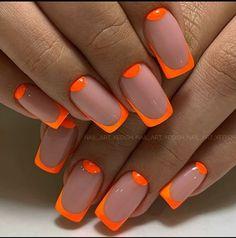Orange Acrylic Nails, Orange Nails, Long Acrylic Nails, Purple Nails, Orange Nail Art, Orange Nail Designs, Nail Design Stiletto, Funky Nails, Fire Nails