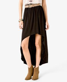 #Forever21                #Skirt                    #Knit #High-Low #Skirt    Knit High-Low Skirt                                 http://www.seapai.com/product.aspx?PID=18375