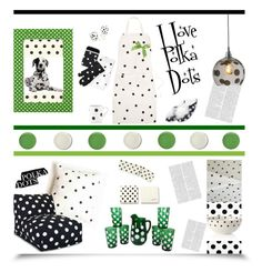 """""""I Love Polka Dots'"""" by dianefantasy ❤ liked on Polyvore featuring interior, interiors, interior design, home, home decor, interior decorating, Kate Spade, Malden International Designs, Accessorize and Dot & Bo"""