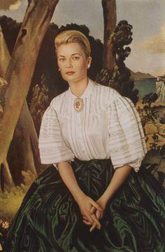 Portrait of Princess Grace , artist unknown....