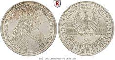 RITTER BRD, 5 DM 1955 G, Markgraf von Baden, J. 390 #coins
