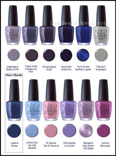 OPI ICELAND SWATCHES & REVIEW FW 2017 COLLECTION | Beautygeeks