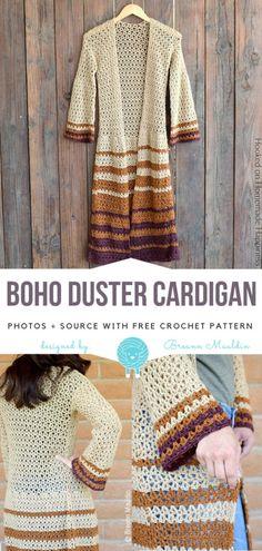 Boho Duster Cardigan Free Crochet Pattern | Wool Pattern
