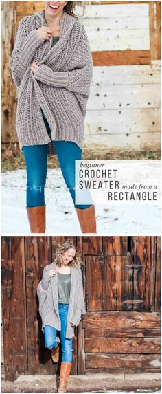 I have rounded up some of the adorable and stunning free crochet cardigan patterns for your inspiration!Habitat Cardigan Free Crochet Pattern - The Crocheting Place Crochet Cardigan Pattern, Crochet Jacket, Crochet Shawl, Crochet Patterns, Crochet Shrugs, Sweater Patterns, Crochet Ideas, Crochet Gratis, Free Crochet