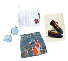 """""""🍓🌸🌞"""" by katrinastarring on Polyvore featuring Gucci and Matthew Williamson"""