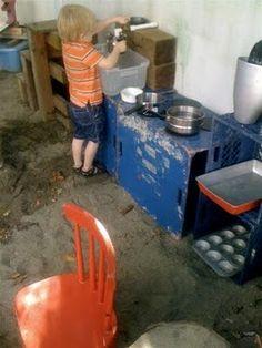 Mud pie kitchen for back yard