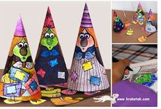 Halloween Special - Color Your Own Witch Paper Doll - by Krokotak - == - Kids will love these funny Little Witches, to print, cut and color, by Krokotak, an educative Russian website. Halloween Arts And Crafts, Halloween Activities, Craft Activities For Kids, Fall Crafts, Holidays Halloween, Halloween Diy, Paper Toys, Paper Crafts, Holiday Classrooms