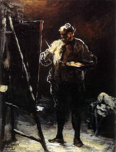 Honoré Daumier, The Painter at His Easel, c. 1870-75