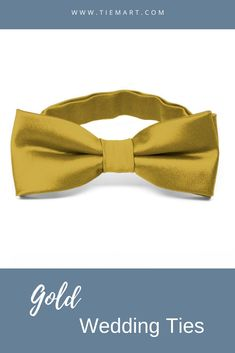 TieMart Navy Blue and Gold Bar Striped Self-Tie Bow Tie