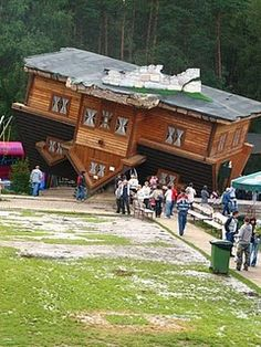 an upside down house in Poland :)