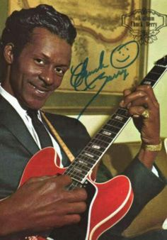 Chuck Berry---------------Musician and one of the greatest guitar players ever. Music Icon