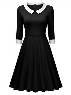 GET $50 NOW | Join RoseGal: Get YOUR $50 NOW!http://www.rosegal.com/vintage-dresses/retro-pannel-flat-collar-dress-957904.html?seid=7345709rg957904