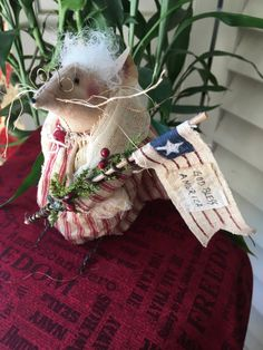 Miss Liberty  Patriotic Mouse  Handmade by StitchingTimeBoutiqu