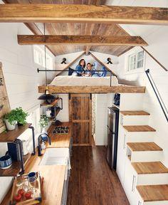 House Plan With Loft, Tiny House Loft, Tiny House Trailer, Modern Tiny House, Tiny House Living, Tiny House Design, House 2, Poll Barn House, Barn House Plans