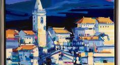 """Hendrik van Veenendaal schilderij """" Le village de Provence """""""