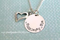 Missionary Mom Necklace by youregonnalovethis on Etsy Mormon Missionary LDS