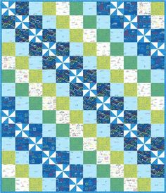 Free Quilt Pattern! Easy and fun featuring Novelty Fabrics. Pieced Brain: Just Don't Crawl quilt