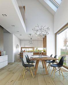 Room Design Bedroom, Modern Bedroom Design, Dining Room Design, Modern House Design, Piece A Vivre, Interiores Design, Interior Architecture, Building A House, Loft