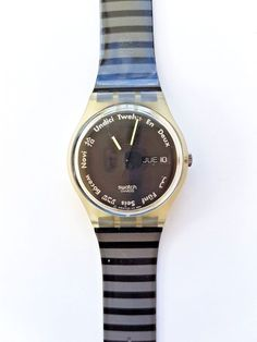 RARE New in Box SWATCH Standard Gents GK703 Gutenberg Swiss Watch 1992 #Swatch #Casual Vintage Swatch Watch, Swiss Watch, Omega Watch, Watches, Best Deals, Box, Casual, Accessories, Fashion