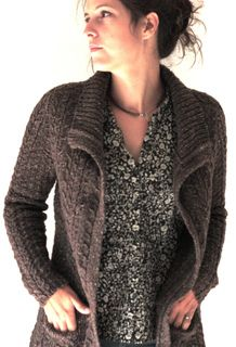 Brown cable knit