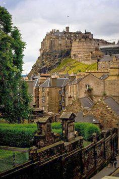 Medieval Edinburgh Castle, Scotland  ~ Karen Hemanstig