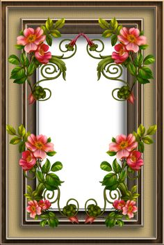 Frame 37 by collect-and-creat Family Photo Frames, Picture Frames, Flower Frame, Flower Art, Xmas Frames, Picture Borders, Boarders And Frames, Printable Frames, Dream Pictures