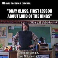Will math save you from Sauron? I think not!
