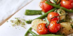 Harico verts salade en gekookte krieltjes