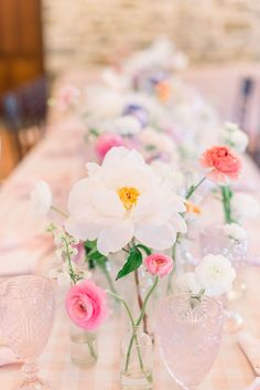 Pennsylvania Wedding, Lancaster Wedding, Wedding Centerpieces, Bright Blooms, Photo by Elizabeth Moore Photography, Florals by We Are Wildflowers, Planned by Shannon Wellington Weddings Shannon Elizabeth, Bud Vases, Lancaster, Wildflowers, Arches, Wedding Centerpieces, Pennsylvania, Floral Wedding, Floral Arrangements