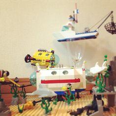 LEGO 6441 サブマリンベース 完成☆ いいセットだ。