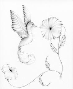 Custom Artwork  Hummingbird Pencil Drawing by ABitofWhimsyArt, $125.00