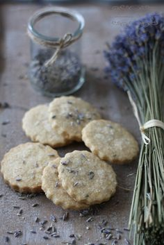 [ Recipe: Seaside and Lavender Cookies ] Using flour (spelt and plain white), powdered sugar, baking powder (or cream of tartar), egg, zest of lemon, butter, lavender buds, sugar and vanilla.  ~ from CinnamonAndThyme.com