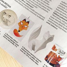 Finnish Interior Magazine Avotakka <3 fox.  Avotakka 5/2015 | Sagalaga Design