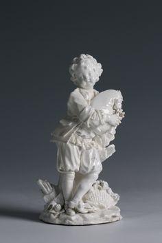 A Vincennes figure of a bagpiper, Joueur de Musette c.1752