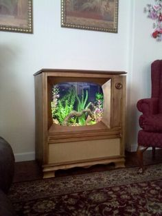 Luxury Living Room with Fish Tank