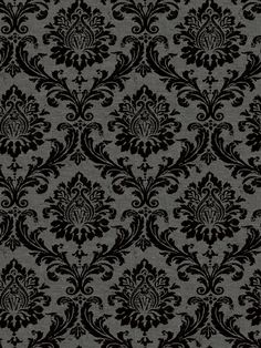 and this is similar to the flocked black and grey damask wallpaper I bought to do a feature wall