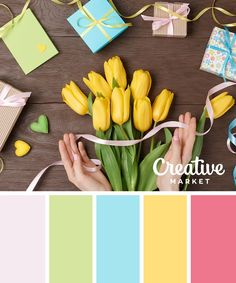 Get inspired by the scenes of spring with these 15 color schemes for your next project.