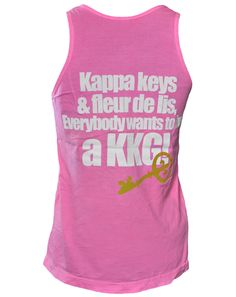 Kappa keys  & fleur de lis,  Everybody wants to be  a KKG!