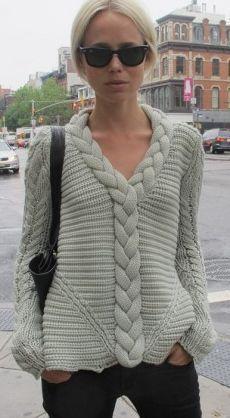 Resultado de imagen para bluson mujer tejido a mano con palillos