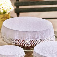 Lace Effect Beaded Food Bowl & Pot Cover - White alt image 2 Dark Home Decor, Food Net, Table Place Settings, Hand Embroidery Designs, Beaded Embroidery, Home Board, Food Bowl, How To Make Beads, Creative Crafts