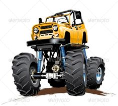Cartoon Monster Truck One Click Repaint #GraphicRiver Vector Cartoon Monster Truck. Available hi-res JPG, transparent PNG, EPS-10, and AI-CS4 vector formats separated by groups and layers with transparency effects for one-click repaint Also you can check at my Collections: Vector Cartoon Cars Vector Cartoon Trucks Detailed Vector Cars modern and retro Detailed Vector Trucks Vans Tractors and Pickups Detailed Vector realistic and cartoon styled Buses Vector aircrafts, airplanes, retro…
