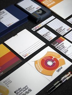 """weandthecolor:  GYÁR Identity Official Classic, a Budapest-based design studio, created the new corporate identity for GYÁR Post Production Ltd.  """"GYÁR is a Budapest-based major post production studio founded in the end of 2005. They decided to celebrate their 5th anniversary with a fresh and new company look.""""  via: WE AND THE COLORFacebook//Twitter//Google+//Pinterest"""