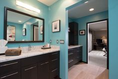 Gorgeous color for a bright bathroom!