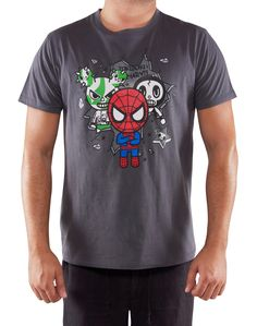 New Women/'s Tokidoki Spider-Man green cotton T-shirt Size S or M